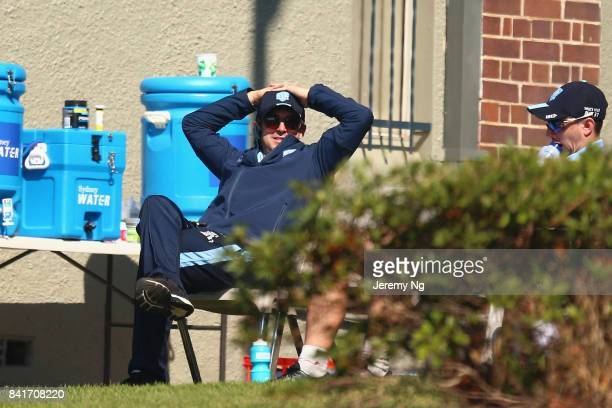 Ed Cowan of Cricket NSW relaxesl during the Cricket NSW Intra Squad Match at Hurstville Oval on September 2 2017 in Sydney Australia