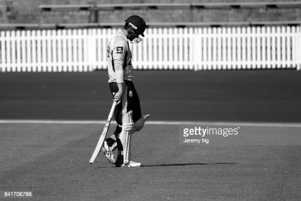 Ed Cowan of Cricket NSW walks off after being dismissed during the Cricket NSW Intra Squad Match at Hurstville Oval on September 2 2017 in Sydney...