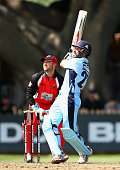 Ed Cowan of the Blues bats during the Matador BBQs One Day Cup final match between New South Wales and South Australia at North Sydney Oval on...
