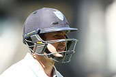 Ed Cowan of the Blues leaves the field after getting out during day one of the Sheffield Shield match between South Australia and New South Wales at...