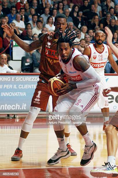 Ed Daniel of Openjobmetis competes with Todd Moore of Umana during the LegaBasket serie A1 match between Umana Reyer Venezia and Openjobmetis Varese...