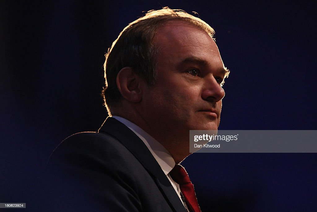 Ed Davey MP, Secretary of State for Energy and Climate Change speaks during his keynote speech during the second day of the Liberal Democratic Autumn conference on September 15, 2013 in Glasgow, Scotland. The second day of the Liberal Democrat conference gets underway in Glasgow today.