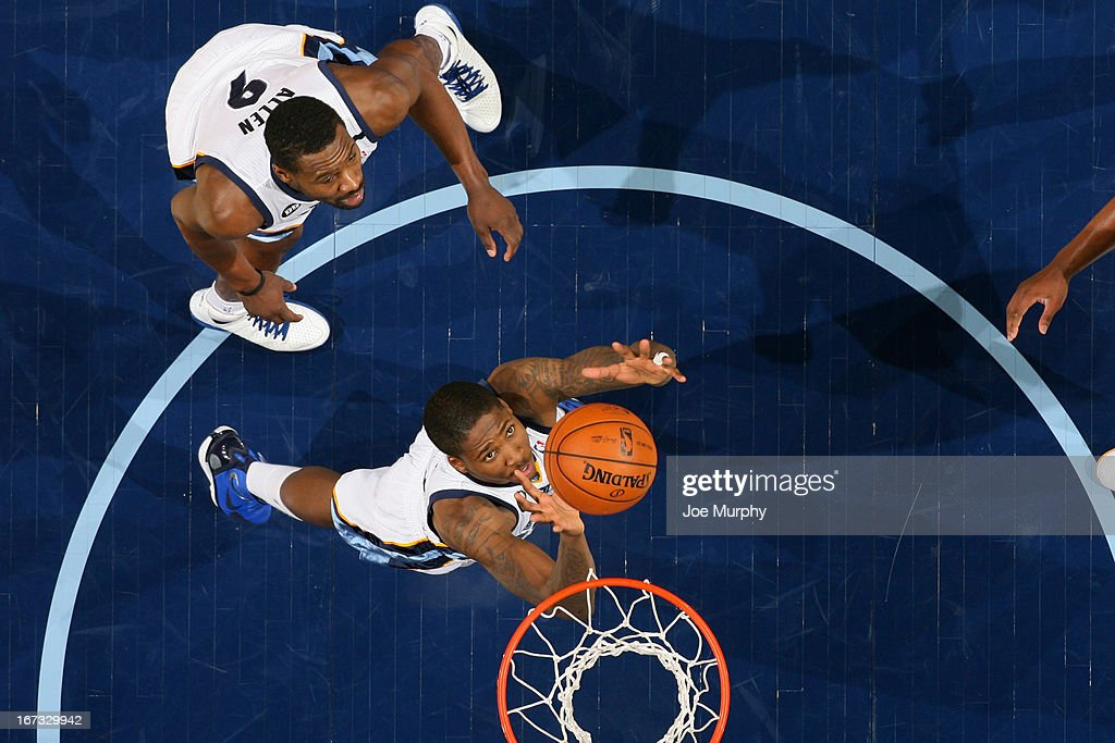 Ed Davis #32 of the Memphis Grizzlies grabs a rebound against the Boston Celtics on March 23, 2013 at FedExForum in Memphis, Tennessee.