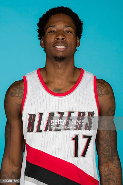 Ed Davis of the Portland Trail Blazers poses for a head shot during media day on September 28 2015 at the MODA Center Arena in Portland Oregon NOTE...