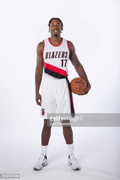 Ed Davis of the Portland Trail Blazers poses for a portrait during the 20162017 Portland Trail Blazer Media Day September 26 2016 at the Veterans...
