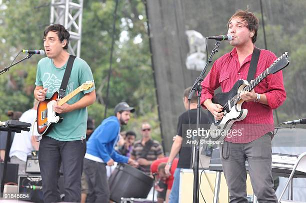 Ed Droste and Daniel Rossen of Grizzly Bear perform on stage on Day 2 of Austin City Limits Festival 2009 at Zilker Park on October 3 2009 in Austin...