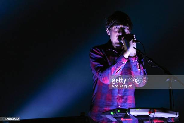 Ed Droste of Grizzly Bear performs at The Greek Theatre on October 10 2012 in Los Angeles California