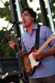 Ed Droste of Grizzly Bear performs during the 2009 Pitchfork Music Festival at Union Park on July 19 2009 in Chicago Illinois