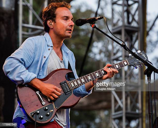 Ed Droste of Grizzly Bear performs during the Outside Lands Music Festival 2013 at Golden Gate Park on August 10 2013 in San Francisco California