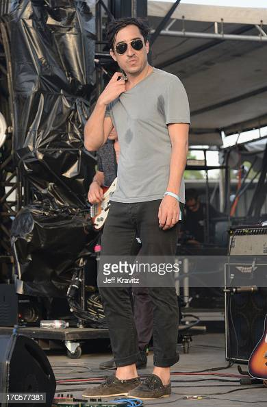Ed Droste of Grizzly Bear performs onstage at Which Stage during day 2 of the 2013 Bonnaroo Music Arts Festival on June 14 2013 in Manchester...
