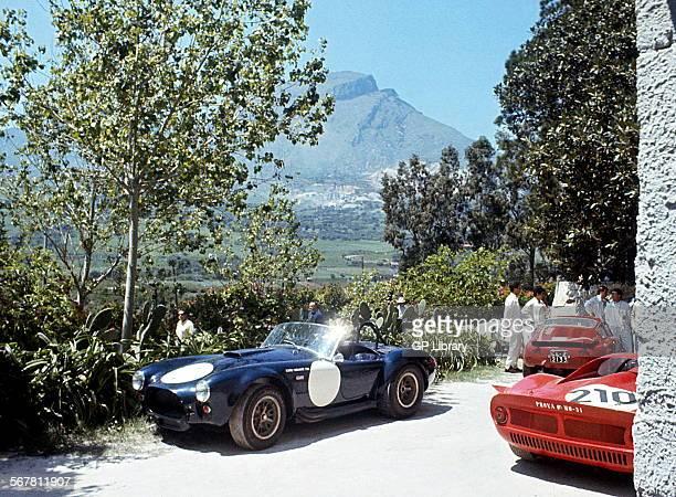Ed FreutelTony Settember's 7litre Shelby Cobra retired due to accident Targa Florio Sicily 8 May 1966