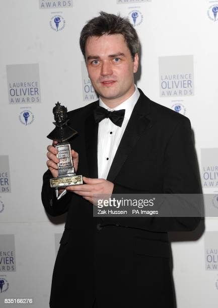Ed Gardner wins the Outstanding Achievement in Opera Award during the Laurence Olivier Awards at the Grosvenor Hotel in central London
