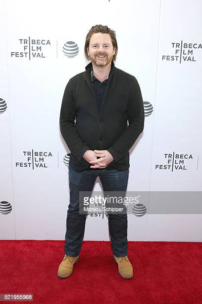 Ed Gibbs of 'Lets Dance Bowie Down Under' attends the Tribeca Film Festival Shorts Rock And A Hard Place at Regal Battery Park Cinemas on April 17...