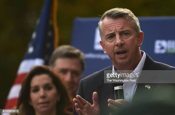 Ed Gillespie campaigns for the upcoming election at the Accotink Academy in Springfield VA November 4 2017 Ed Gillespie is the Republican nominee for...