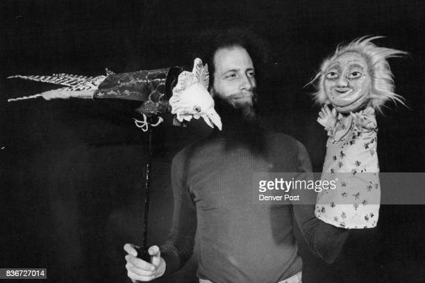 Ed Glassman With Bird and Japanese Lady Puppets Credit Denver Post