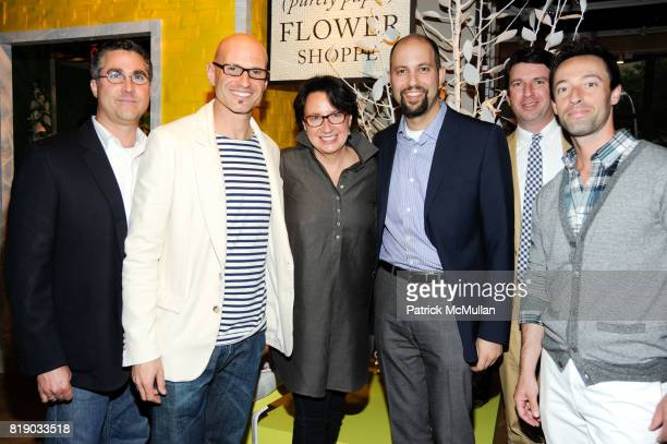 Ed Gray David Stark Alex Bates Jim Brett Paul Demartini and Ed Carter attend DAVID STARK and West Elm preview party for The Flower Shoppe and...