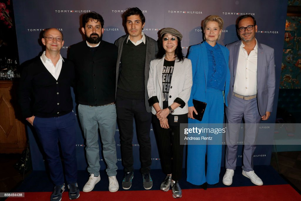 Ed Guiney, Lucas Ochoa, Paul Negoescu, Mabel Cheung, Trine Dyrholm and Michel Merkt attend the Tommy Hilfiger VIP Dinner in celebration of the 13th Zurich Film Festival on October 6, 2017 in Zurich, Switzerland.