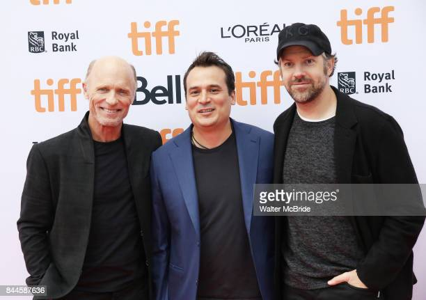 Ed Harris Mark Raso and Jason Sudeikis attend the 'Kodachrome' Premiere during the 2017 Toronto International Film Festival at Princess of Wales...