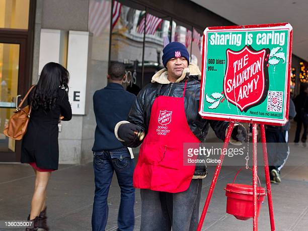 Ed Hectorosorio a 40hoursaweek volunteer with the Salvation Army collecting donations in Downtown Crossing on Friday Nov 18 2011 Now using the QR...
