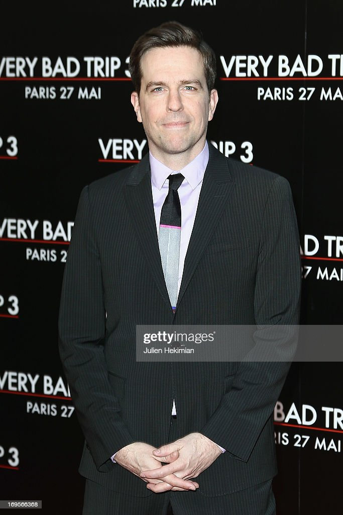 Ed Helms attends 'Hangover - Very Bad Trip III' ('The Hangover Part III') Paris premiere at Cinema UGC Normandie on May 27, 2013 in Paris, France.
