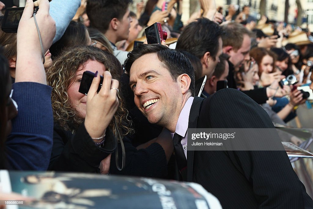 <a gi-track='captionPersonalityLinkClicked' href=/galleries/search?phrase=Ed+Helms&family=editorial&specificpeople=662337 ng-click='$event.stopPropagation()'>Ed Helms</a> attends 'Hangover - Very Bad Trip III' ('The Hangover Part III') Paris premiere at Cinema UGC Normandie on May 27, 2013 in Paris, France.