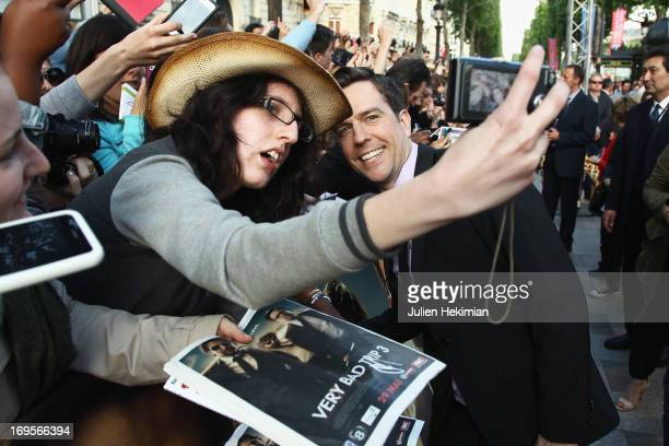 Ed Helms attends 'Hangover Very Bad Trip III' Paris premiere at Cinema UGC Normandie on May 27 2013 in Paris France