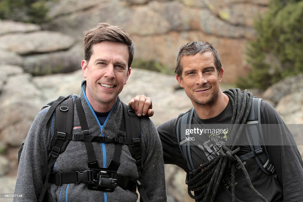 GRYLLS -- '<a gi-track='captionPersonalityLinkClicked' href=/galleries/search?phrase=Ed+Helms&family=editorial&specificpeople=662337 ng-click='$event.stopPropagation()'>Ed Helms</a>' Episode 208 -- Pictured: (l-r) <a gi-track='captionPersonalityLinkClicked' href=/galleries/search?phrase=Ed+Helms&family=editorial&specificpeople=662337 ng-click='$event.stopPropagation()'>Ed Helms</a>, <a gi-track='captionPersonalityLinkClicked' href=/galleries/search?phrase=Bear+Grylls&family=editorial&specificpeople=3061585 ng-click='$event.stopPropagation()'>Bear Grylls</a> --
