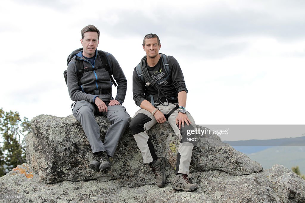 GRYLLS -- 'Ed Helms' Episode 208 -- Pictured: (l-r) Ed Helms, Bear Grylls --