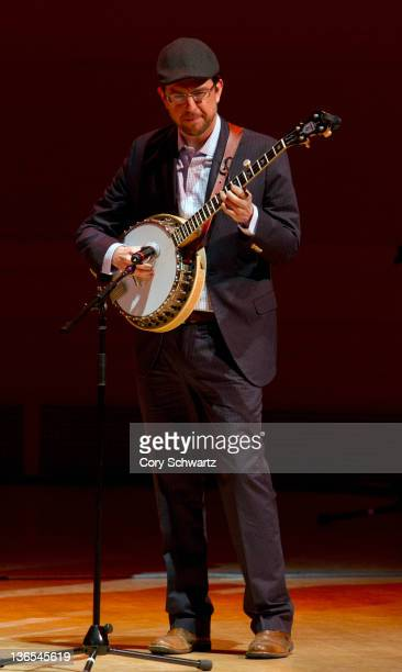 Ed Helms performs during the Preservation Hall Jazz Band 50th anniversary at Carnegie Hall on January 7 2012 in New York City