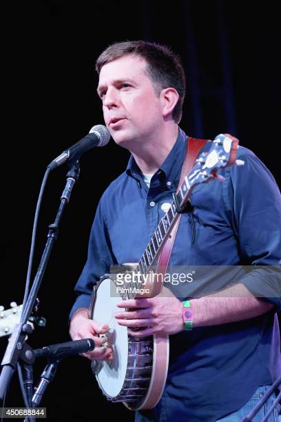 Ed Helms performs onstage with The Bluegrass Situation Superjam at That Tent during day 4 of the 2014 Bonnaroo Arts And Music Festival on June 15...