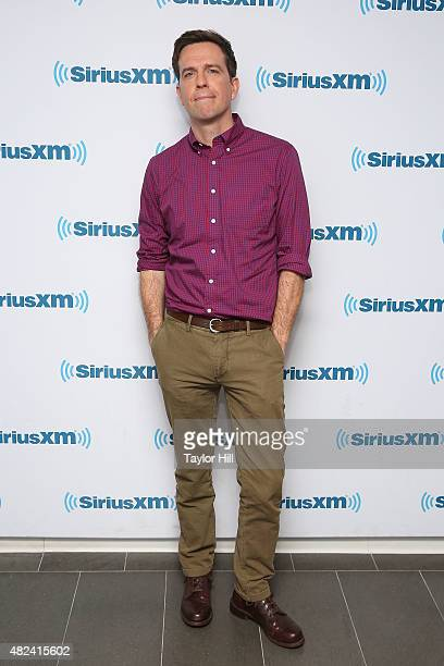 Ed Helms visits the SiriusXM Studios on July 30 2015 in New York City