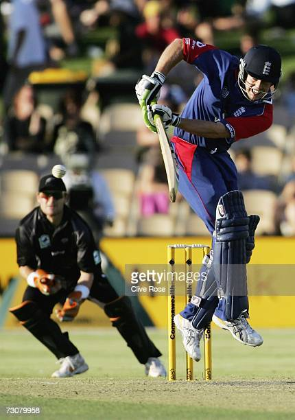 Ed Joyce of England in action during game six of the Commonwealth Bank One Day International Series between New Zealand and England at the Adeliade...