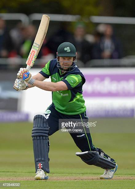Ed Joyce of Ireland bats during the Royal London One Day International between Ireland and England at Malahide Cricket Club on May 8 2015 in Malahide...