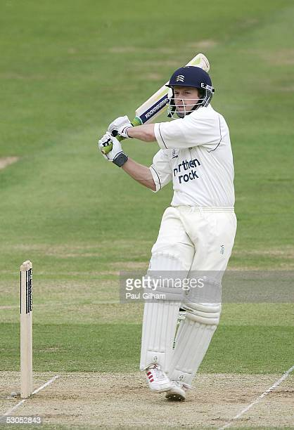 Ed Joyce of Middlesex hits out during day four of four of the Frizzell County Championship match between Middlesex and Surrey at Lord's on June 11...