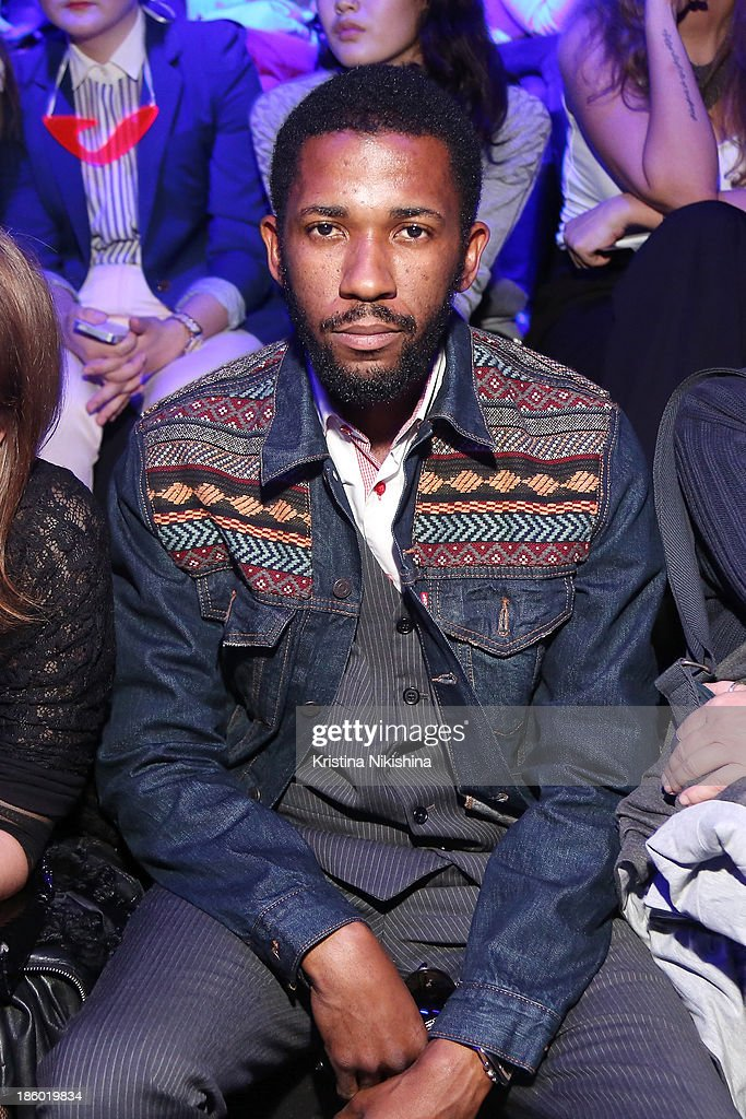 Ed Kavishe from Fashion Wire Press attends the Mercedes-Benz Fashion Week Russia S/S 2014 on October 27, 2013 in Moscow, Russia.