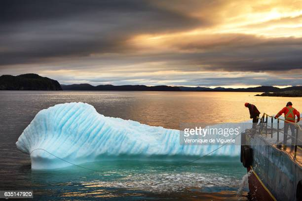 Ed Kean had to let the damaged iceberg go because it's too dangerous They have to find another one easier to harvest As more icebergs drift south due...