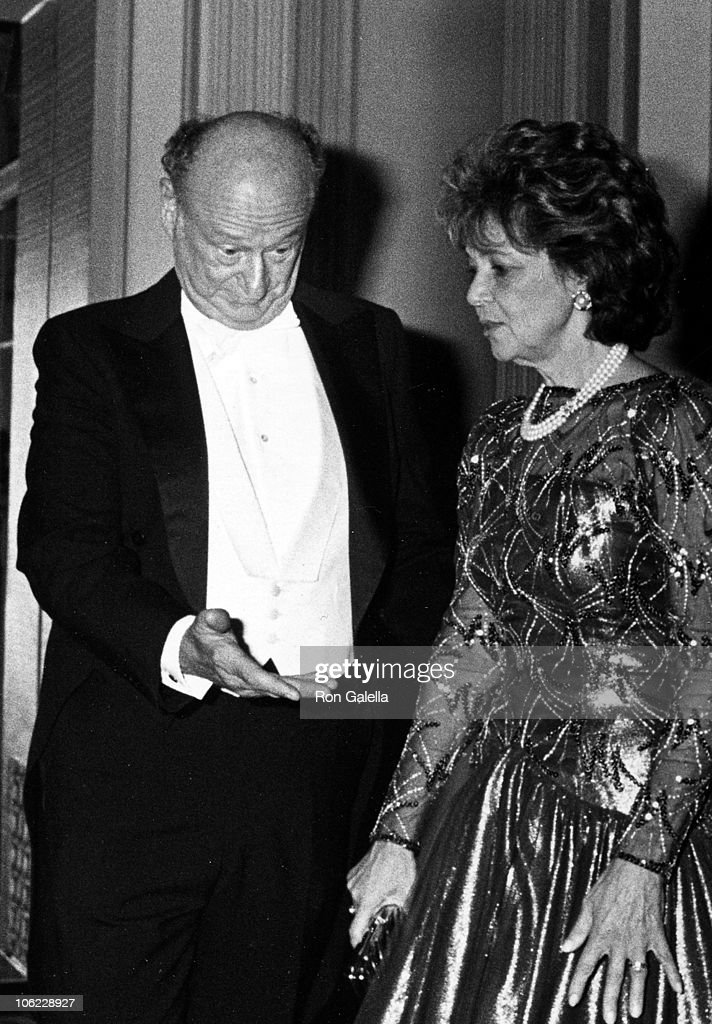 Ed Koch and Matilda Cuomo during 42nd Annual Alfred E Smith Memorial Dinner at Waldorf Astoria Hotel in New York City New York United States