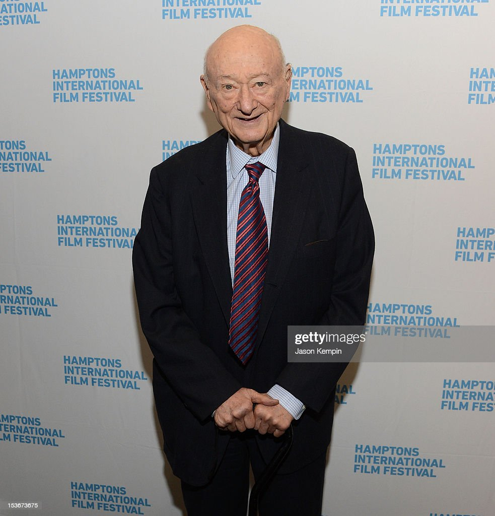 Ed Koch attends the 'Koch' screening during the 20th Hamptons International Film Festival at United Artists Regal Cinema on October 8, 2012 in East Hampton, New York.
