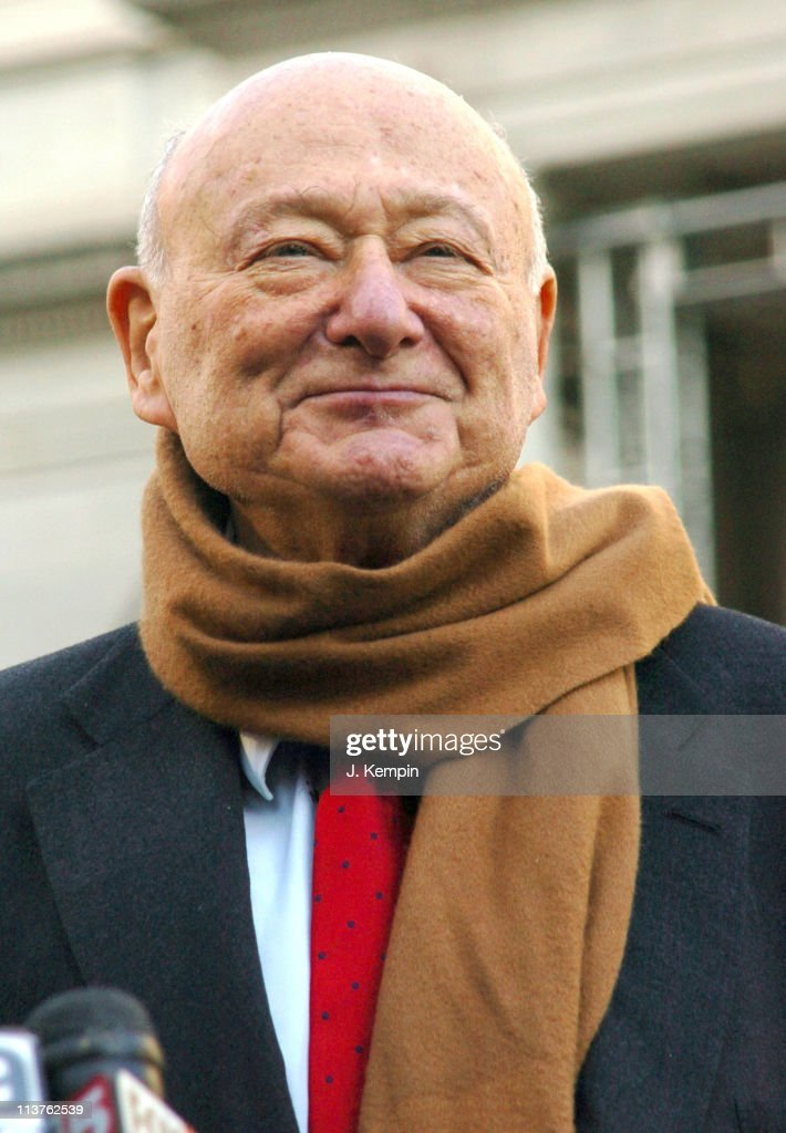 <a gi-track='captionPersonalityLinkClicked' href=/galleries/search?phrase=Ed+Koch&family=editorial&specificpeople=214740 ng-click='$event.stopPropagation()'>Ed Koch</a> during Former NYC Mayor <a gi-track='captionPersonalityLinkClicked' href=/galleries/search?phrase=Ed+Koch&family=editorial&specificpeople=214740 ng-click='$event.stopPropagation()'>Ed Koch</a> Endorses Attorney General Eliot Spitzer for New York State Governor - December 30, 2005 at New York City Hall in New York City, New York, United States.