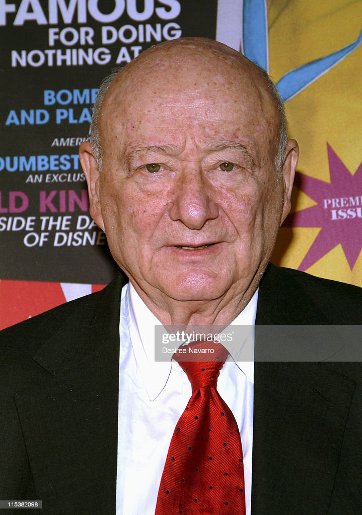 Ed Koch, former mayor of New York City during Radar Magazine Launch at Hotel QT in New York City, New York, United States.