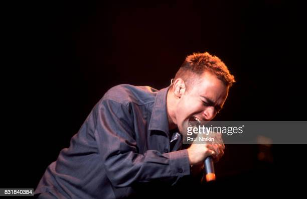 Ed Kowalczyk of American alternative rock band Live performs at the World Music Theater in Tinley Park Illinois August 4 1995