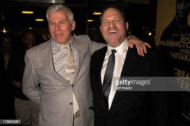 Ed Limato and Harvey Weinstein at the premiere of The Great Debaters at the Arclight Theater on December 11 2007 in Hollywood California