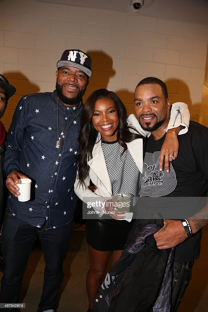 Ed Lover Gabrielle Union and Method Man attend Def Jam Recordings 30th Anniversary Concert at Barclays Center of Brooklyn on October 16 2014 in New...
