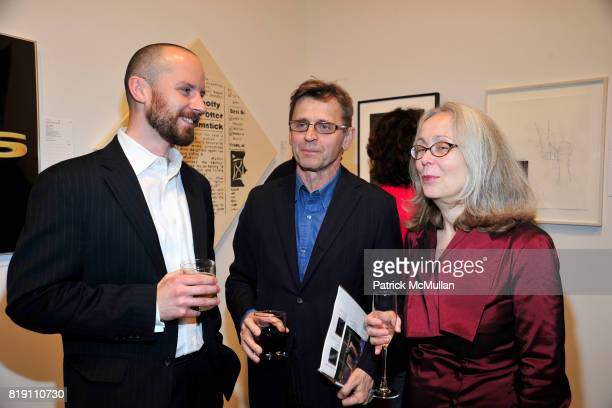 Ed McKeaney Mikhail Baryshnikov and Cynthia Hedstrom attend THE WOOSTER GROUP First Benefit Art Auction at Sean Kelly Gallery on March 15 2010 in New...