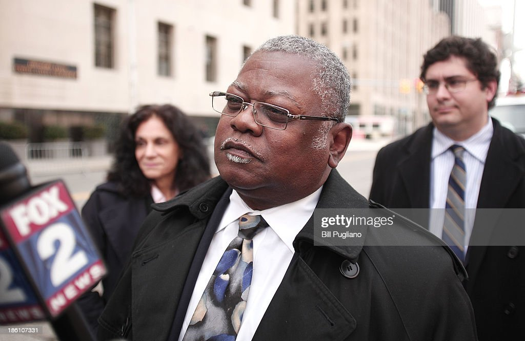 Ed McNeil, Special Assistant to the President of AFSCME Council 25 in Detroit, speaks with the news media during a break in Detroit's bankruptcy eligibility trial at the U.S. Courthouse October 28, 2013 in Detroit, Michigan. Michigan Gov. Rick Snyder is expected to testify today at the trial. A federal judge will decide if the City of Detroit is eligible to be in bankruptcy court.