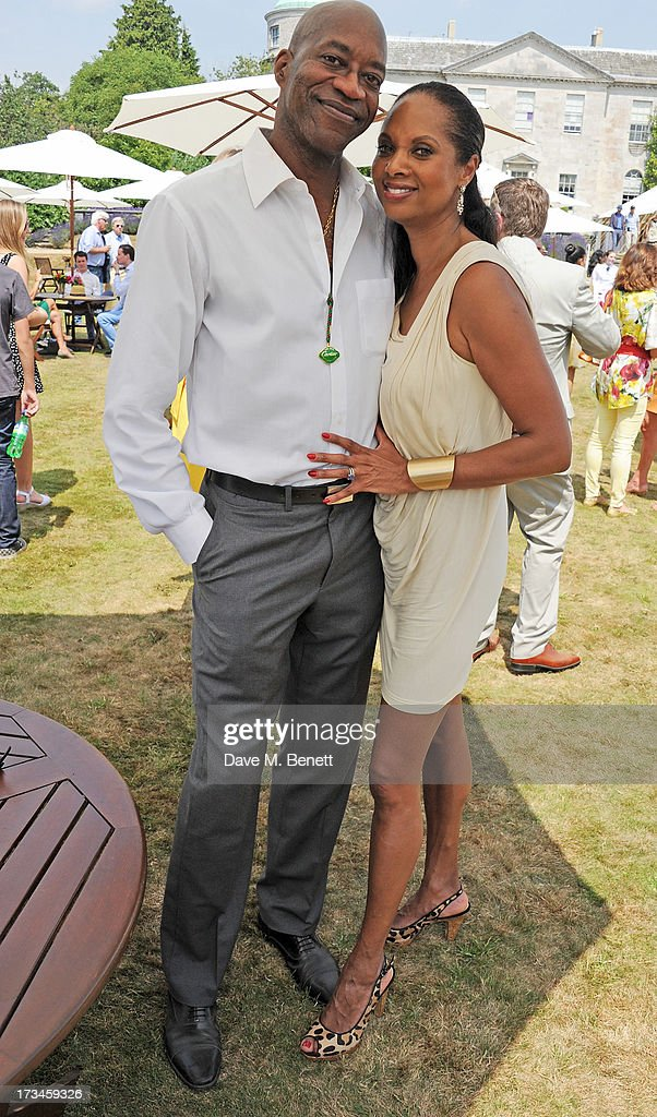 Ed Moses (L) and Myrella Moses attend the Cartier Style & Luxury Lunch at the Goodwood Festival of Speed on July 14, 2013 in Chichester, England.