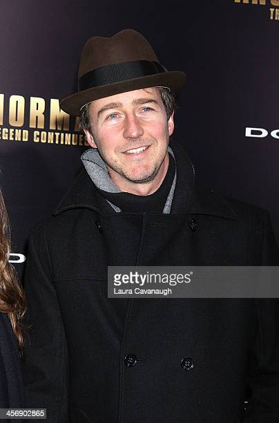 Ed Norton attends the 'Anchorman 2 The Legend Continues' US premiere at Beacon Theatre on December 15 2013 in New York City