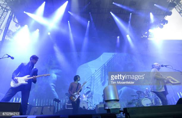 Ed O'Brien Jonny Greenwood Philip Selway and Thom Yorke of Radiohead performs in support of the band's 'A Moon Shaped Pool' release at The Greek...