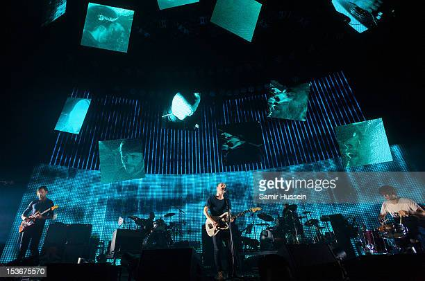 Ed O'Brien Phil Selway Thom Yorke and Jonny Greenwood of Radiohead perform at the 02 Arena on October 8 2012 in London England