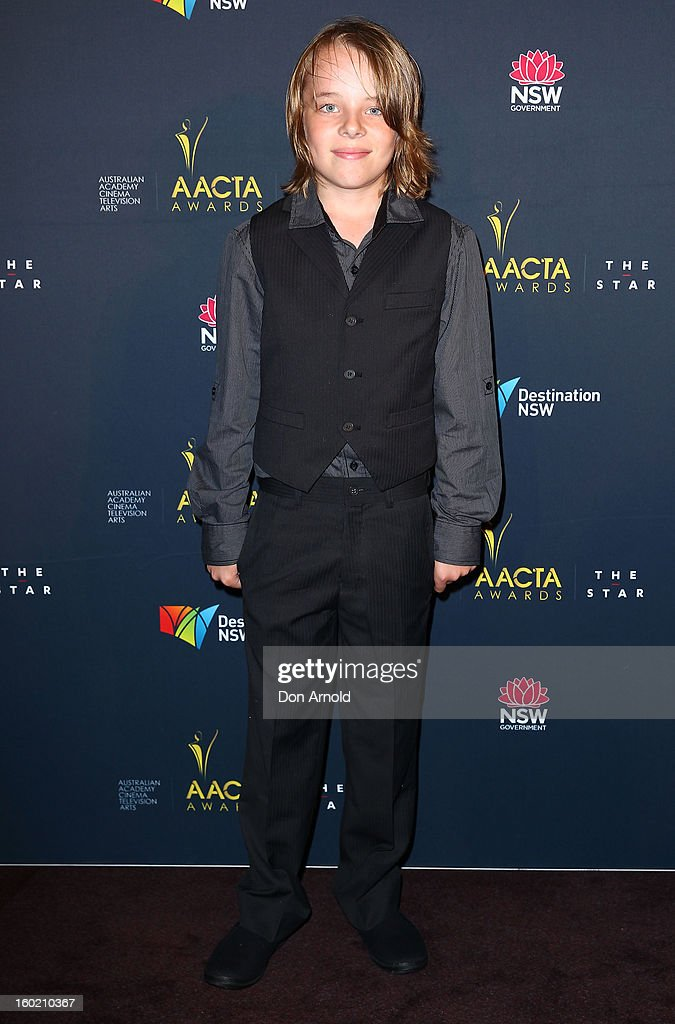 Ed Oxenbould poses during the 2nd Annual AACTA Awards Luncheon at The Star on January 28, 2013 in Sydney, Australia.